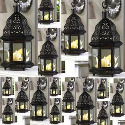 6 bulk lot black Moroccan Marrakech Lantern Candle holder we