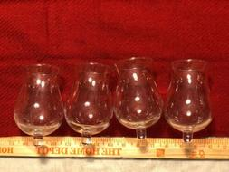 6 Large Clear Glass Votive Candle Holder Cups With Rubber Co