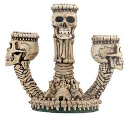 YTC SUMMIT 6241 Ossuary Skeleton Triple Candleholder - C-12