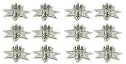 "6pk Metallic Silver Seven Pointed Fairy Star Holders 1/2""W C"