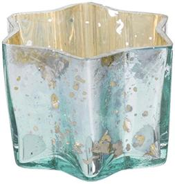 Insideretail 700457-6LTBLU Mercury Glass Star Tea Light Hold