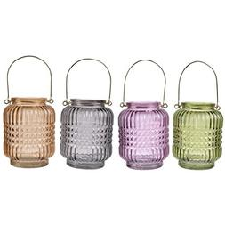 A&B Home 76018 Alma Round Jar Candle Holders with Handles