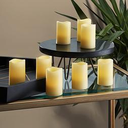 "8 Ivory 3"" Flameless Votives with Warm White LEDs, Mini Wax"