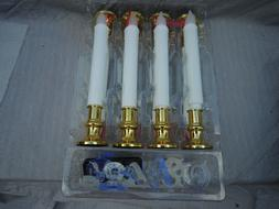 8 flameless taper candles white led real