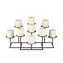 9-Candle Metal Candelabra