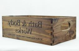 BATH BODY WORKS WOOD CRATE TRAY GIFT SET BOX BASKET DECOR LA