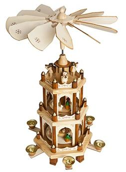 BRUBAKER Christmas Decoration Pyramid - 18 Inches - Nativity