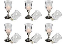 Biedermann & Sons Glass Votive Holder Cups with Peg