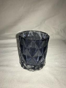 Blue Colored Glass Candle Holder