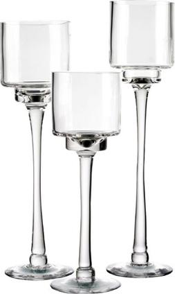 CYS EXCEL Candle Holders, Hurricane Candle Holders, Long Ste