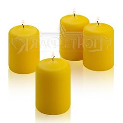 Citronella Pillar Candle - Set of 4 Summer Scented Citronell
