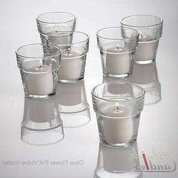 Set of 12 Eastland® Clear Flower Pot Votive Holders
