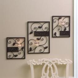 Essential Home Essence Live, Laugh, Love Wall Sconce Set