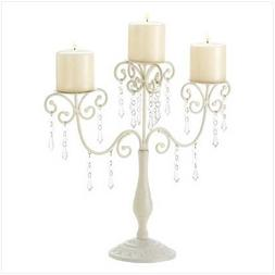 Gifts & Decor Ivory Candelabra Wedding Gift Centerpiece Cand