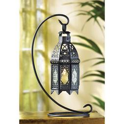 Gifts & Decor Moroccan Tabletop Lantern Ornate Metal Candle