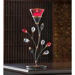 Gifts & Decor Ruby Blossom Tealight Candle Holder Stand Cent