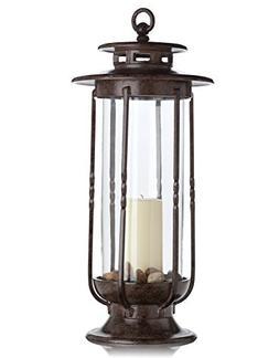 H Potter Large Decorative Hurricane Lantern Glass Candle Hol