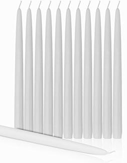 """Higlow Dripless Taper Candles 12"""" Inch Tall Wedding Candle S"""