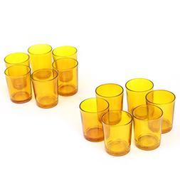 Hosley Set of 24 Amber Glass Votive/Tea Light Holders. Ideal