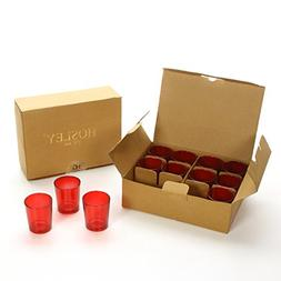 Hosley Set of 24 Red Glass Votive/Tea Light Holders. Ideal G