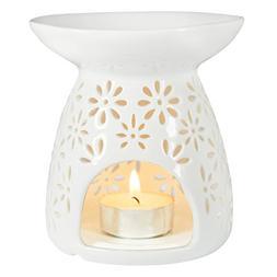 Ivenf Ceramic Tea Light Holder, Aromatherapy Essential Oil B