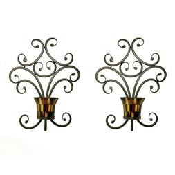 Pomeroy Truffle Candle Holder Wall Sconces Set of 2