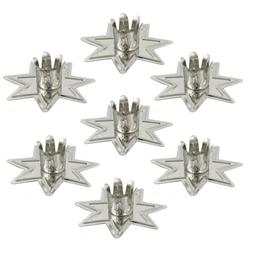 """Set of 7 Silver Fairy Star Chime Candle Holders 4"""" Mini Tape"""