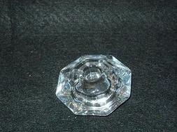"Taper Candle Holder, Clear Reversible, Holds 1/2"" or  7/8"" s"