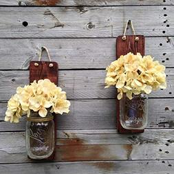 Tennessee Wicks Handcrafted Rustic Mason Jar Wall Wooden Sco