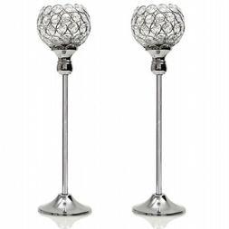 VINCIGANT Crystal Candle Holder Sets for Anniversary Celebra