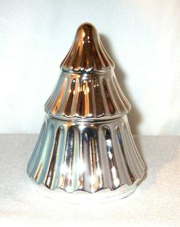 Yankee Candle Holiday Ceramic SILVER TREE Votive Holder With