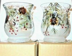 Yankee Candle MULTICOLOR FALL LEAVES Crackle Glass Votive Ho