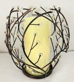 Age Bronze Candle Holder & Flameless Candle w/ Timer Worldwi