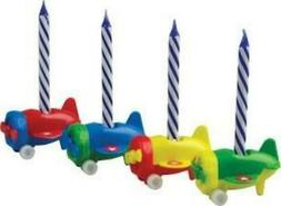Airplane Candleholder Sets w/ 4 Candles