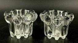 Alco Crystal Two Piece Candle Holder Set Fits Votive or Tape