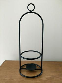 Amish made wrought iron Large Jar candle holder to hang or s