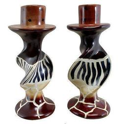 Animal Print Candle Holders Handcrafted from Soap Stone