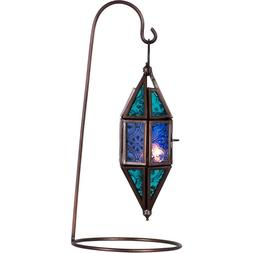 Aquamarine & Blue Chapel Moroccan Lantern Candle Holder Meta