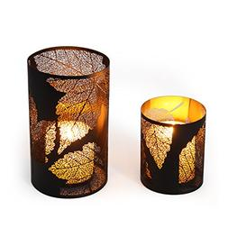 Asense Metal Candle Holder and Lantern Hurricanes, Each Hold