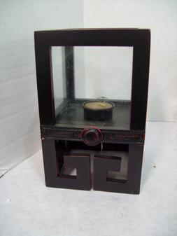 Hosley Asian Design Wood & Glass Candle Holder H49809