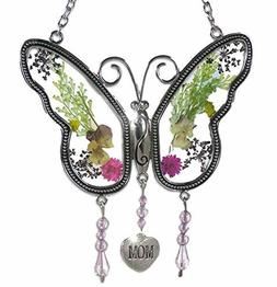 BANBERRY Mom Butterfly Mother day gift Suncatcher with Press