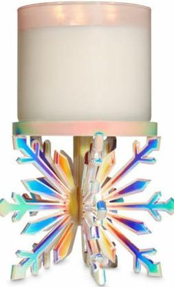 Bath & and Body Works IRIDESCENT 3-D SNOWFLAKE Pedestal 3 Wi