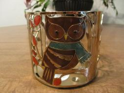 BATH AND BODY WORKS 3 WICK CANDLE HOLDER OWL AND SQUIRREL