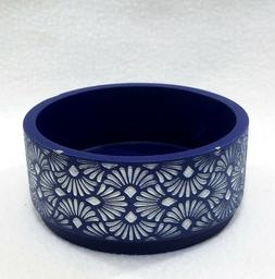Bath & Body Works BLUE ARTISTIC RESIN FAN Large 3-Wick  Cand