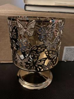 Bath And Body Works Candle Holder 3 Wick Butterflies