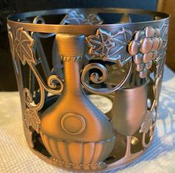 """BATH & BODY WORKS  """"CIAO WINE"""" THEME 3 WICK CANDLE HOLDER"""