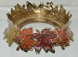 BATH & BODY WORKS COLORFUL AUTUMN LEAVES CANDLE HOLDER SLEEV