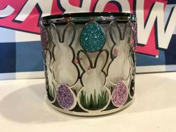 Bath & Body Works EASTER BUNNY 3 Wick Candle Holder Sleeve P