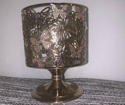 bath and body works gold candle holder
