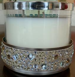 BATH & BODY WORKS GOLD GEMSTONES 3 WICK CANDLE HOLDER